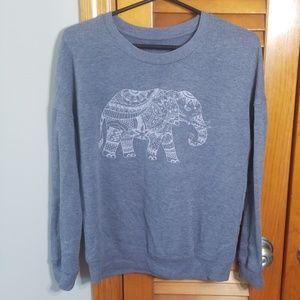 Zoe & Liv Elephant Graphic Sweat Shirt